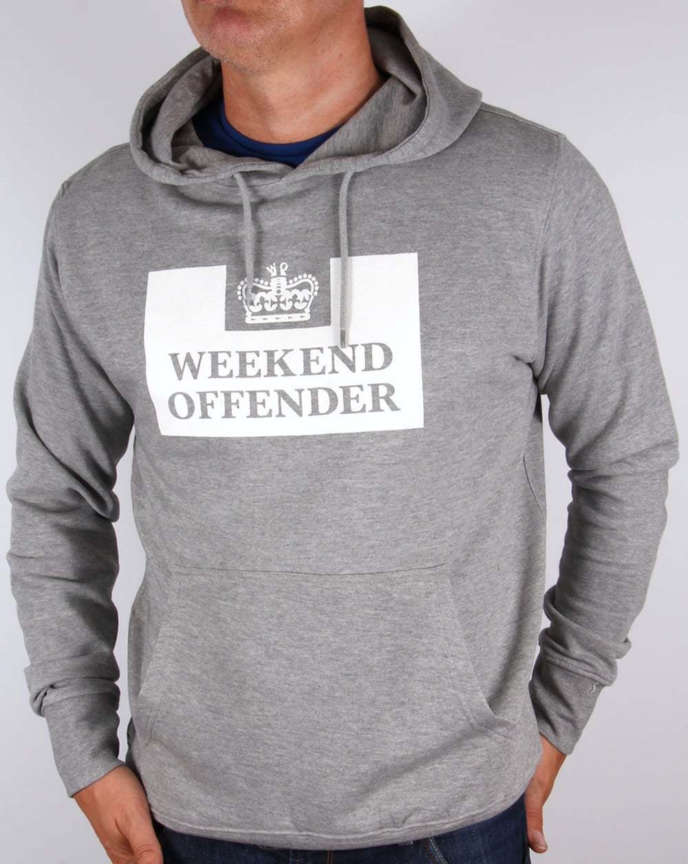Weekend Offender HM Service Hoody in Grau - hoodie hooded sweat prison logo