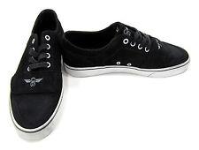Creative Recreation Shoes Cesario Lo XVI Black Suede Sneakers Size 8 EUR 40.5