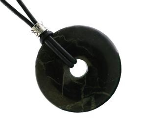 30mm-Shungite-Donut-Gemstone-Pendant-Necklace-PB17-S-Leather-Cord-Free-Gift-Box