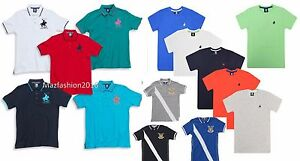 CARGO-BAY-Kids-Boys-Polo-Horse-T-Shirt-Shirt-Top-Childrens-Designer-2-13-Years