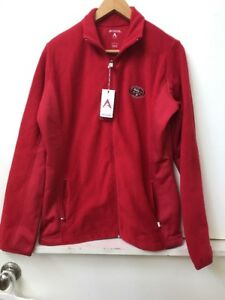 Clothing, Shoes & Accessories Nwt San Francisco 49ers Womens Pro Quality Zip-up Polar Fleece Jacket Red S-xl