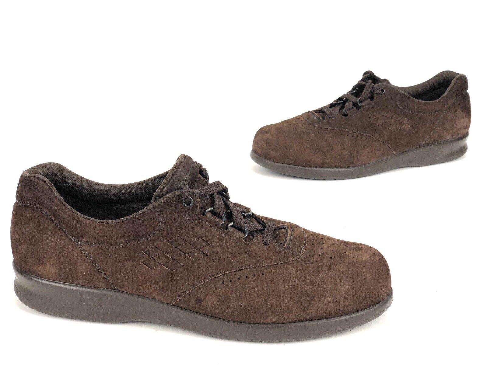 Women's SAS Free Time Dark Brown Suede Comfort shoes Sz 10 Tripad Comfort