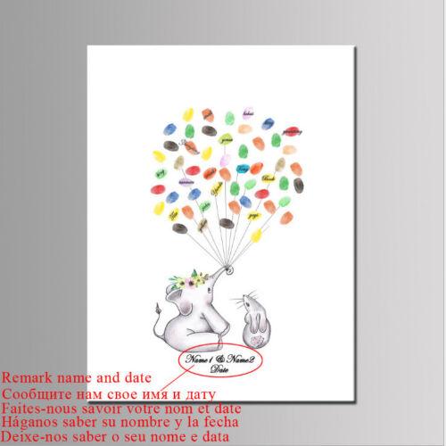 Nach Maß Baby Party Babydusche Fingerabdruck Baum Gästebuch Leinwand Malerei