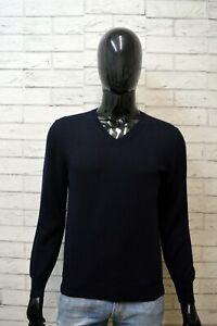 FAY-Uomo-Pullover-Blu-Taglia-S-Cardigan-Maglione-Maglia-Lana-Sweater-Man-Wool