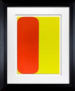 Ellsworth KELLY Lithograph ORIGINAL Red/Yellow 1964 LIMITED Ed. w/Custom Frame