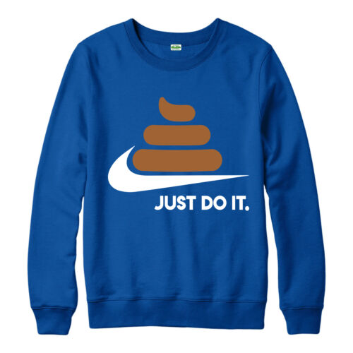 Just Pooh It Jumper Just Do It Poop Emoji Design Spoof Jumper Top