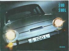 Skoda S100 S100L Circa 1971 French Language Brochure Catalog Prospekt