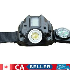 CREE LED Tactical Display Rechargeable Wrist Watch Flashlight Torch