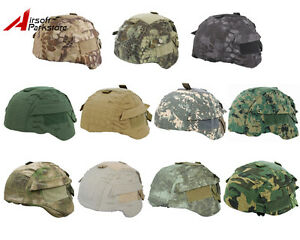 Tactical Military Airsoft Hunting Camo Helmet Cover for MICH TC-2001 ACH Helmet