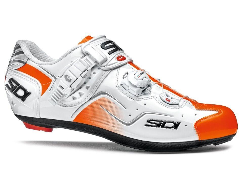 Nya Sidi Kaos Cycling skor, vit orange Fluo, EU38-45.5