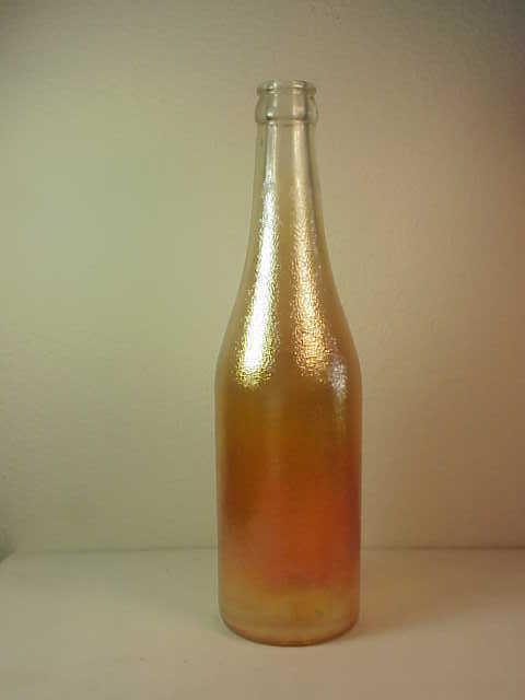 Carnival Glass Canada Dry Ginger Ale Soda Bottle