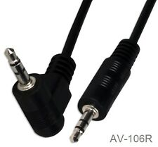 "6ft 3.5mm (1/8"") TRS Stereo Male to Right-Angle Male mp3/mobile/AUX Audio C"