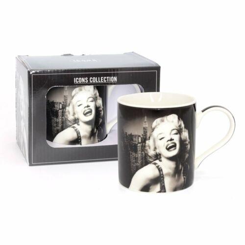 Marilyn Monroe En Caja De Regalo Porcelana Fina Taza Taza Iconos Collection