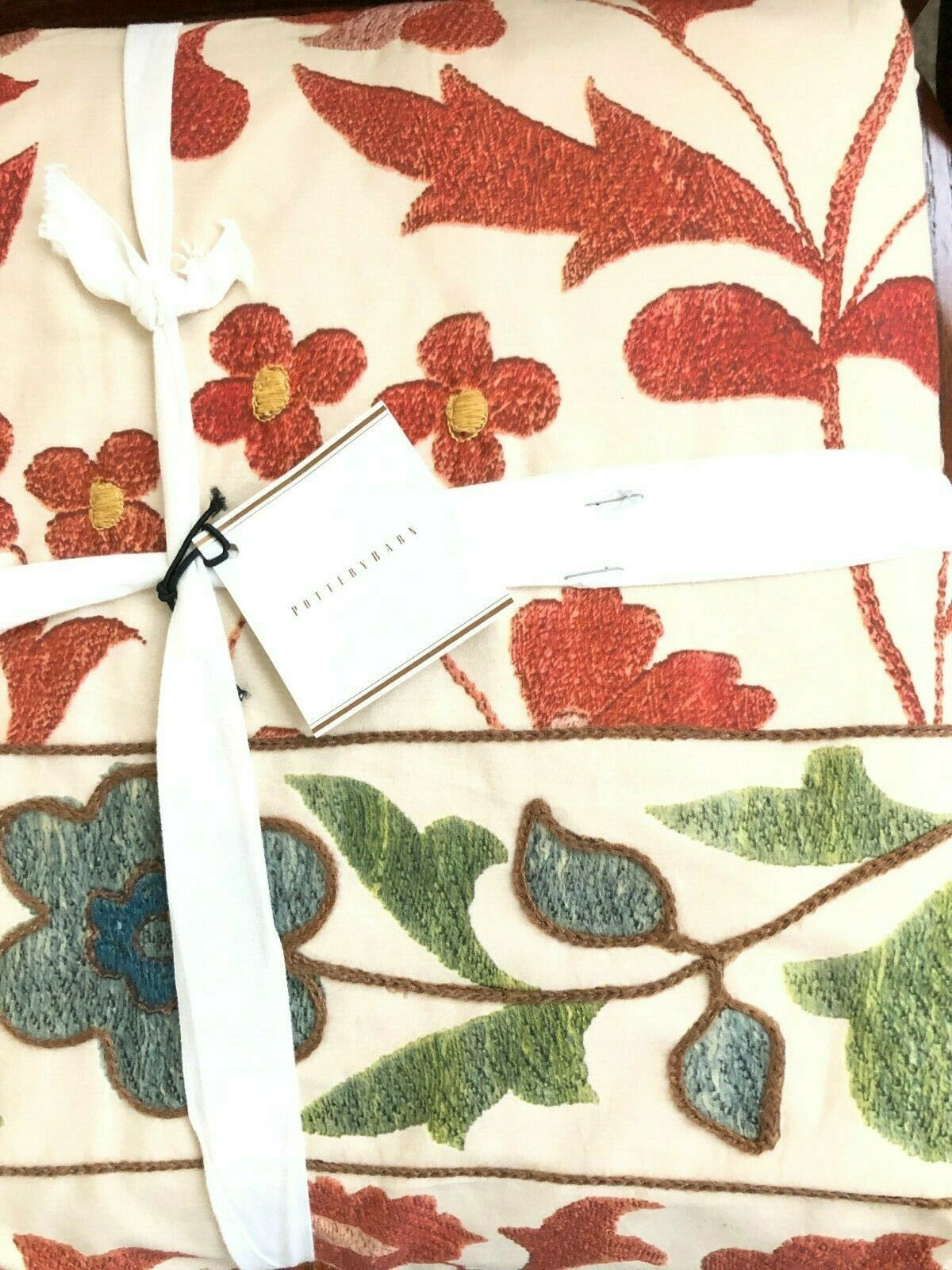 POTTERY BARN RAMONA PRINTED EMBROIDErot DUVET COVER