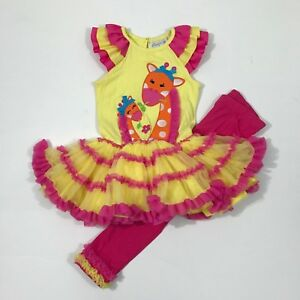 9ec506ec4e112 Details about Emily Rose NWT 4 5 7 8 Boutique Giraffes TUTU Dress Top Legging  Outfit ZOO