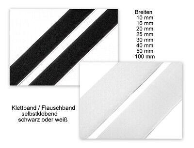 Industriequalität schwarz oder weiß selbstklebend Klettband und Flauschband