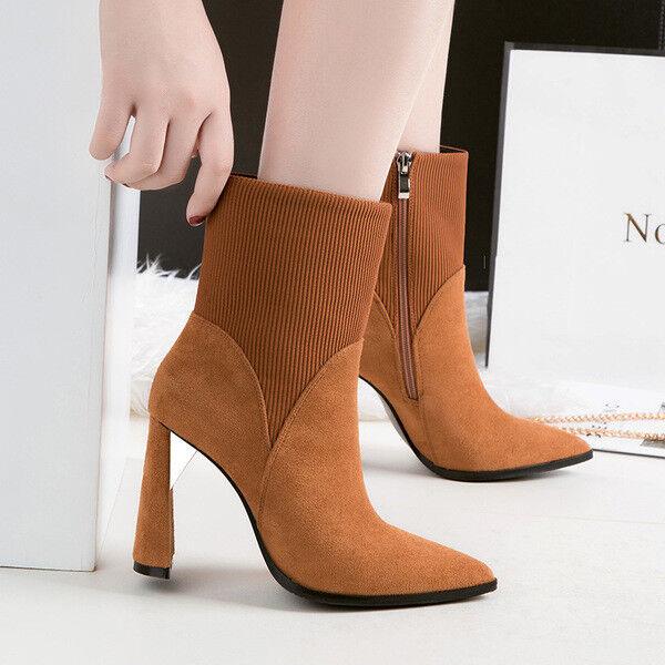Bottes stivaletti bassi chaussures caviglia beige 10 cm pelle sintetica 9676