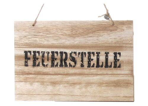 """Holzschild /""""Feuerstelle/"""" Shabby Chic Schild Wandbild Türschild"""