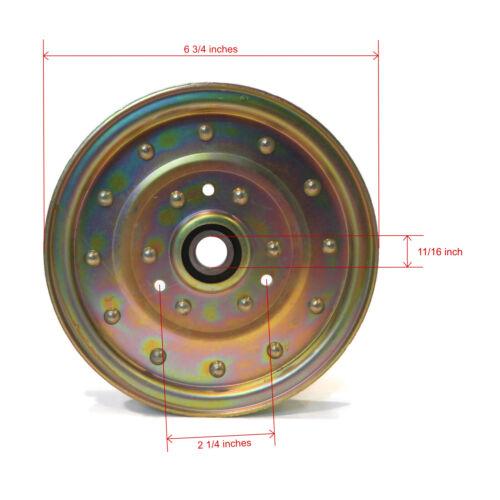126-7685 Lawn Mower Deck 116-4667 Flat Idler Pulley for Toro /& Exmark 1-633109