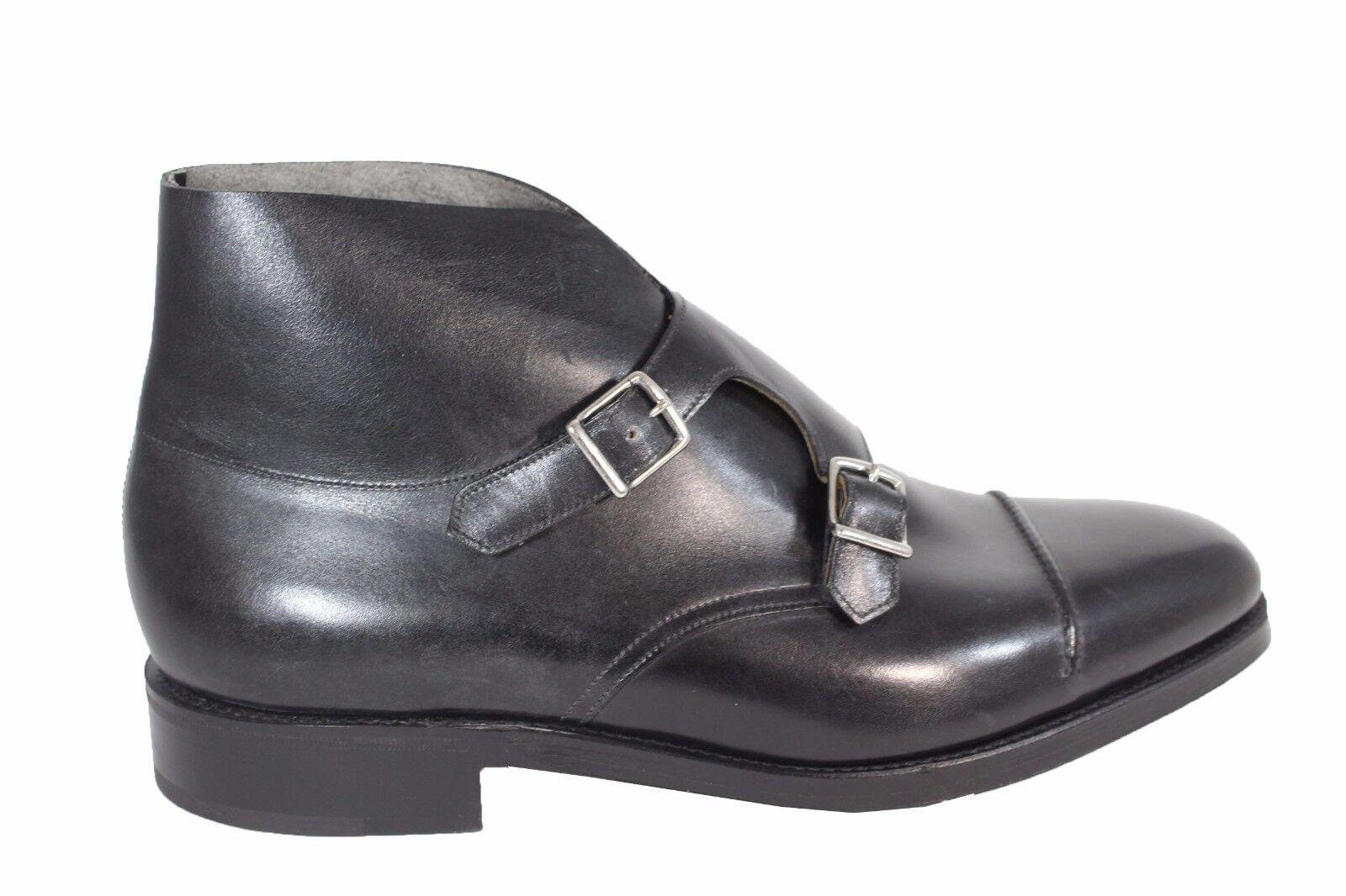 JOHN LOBB William Bo leather monk strap scarpe eleganti pelle con fondo in cuoio