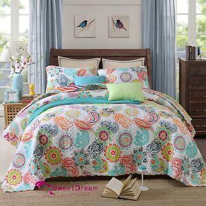 Vintage-Premium-Cotton-Quilt-Bedspread-Coverlet-Set-3-piece-Queen-King
