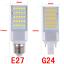 5050SMD-5W-7W-9W-11W-13W-LED-Lugar-Maiz-Horizontal-Plug-Ligero-Downlight-E27-G24 miniatura 2