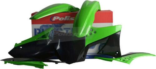 Polisport Plastic Kit Set Black Green KAWASAKI KX250F 2009–2012 90249