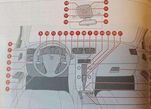 GENUINE VOLVO V50 HANDBOOK OWNERS MANUAL WALLET 2007-2012 PACK M-250