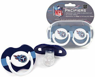 2 pack Tennessee Titans Logo Baby Pacifier in Teams Colors NFL Licensed