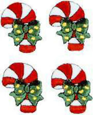 "7-5//8/"" Christmas Candy Cane Embroidery Iron On Applique Patch"