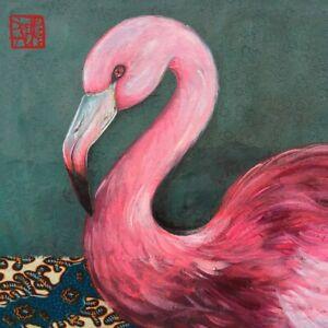 4-SERVIETTEN-034-Joli-Flamingo-034-33X33-NAPKINS-SERVIETTENTECHNIK-TIERE-ZEICHNUNG