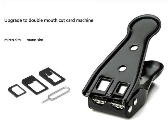 for iPhone 4 4G 4S 5 5S 5C Black All in 1 Nano Micro SIM Card Cutter Adapters