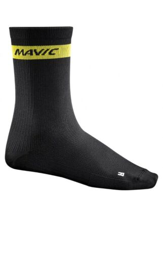Mavic Cosmic High Cycling Socks Medium Black New In Packaging