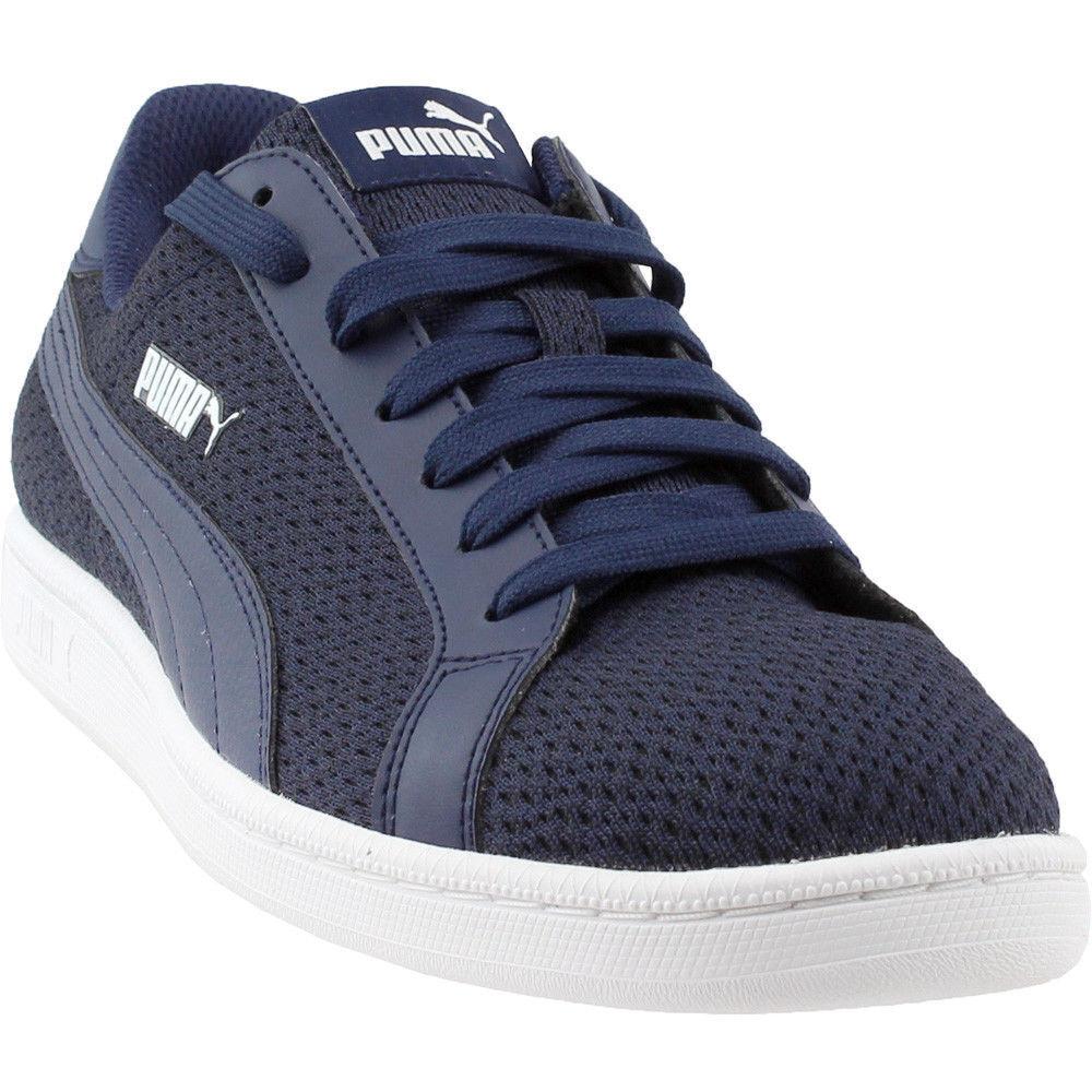 PUMA SMASH KNIT FASHION zapatillas MEN zapatos azul blanco 365458-04 Talla 9.5 NEW