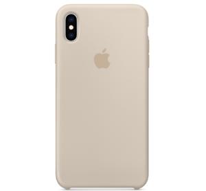 Echt-Original-Apple-iPhone-XS-Silikon-Huelle-Silicone-Case-Stein-Stone