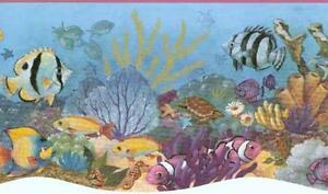 Wallpaper-Border-Underwater-Ocean-Sea-Life-Tropical-Fish-Die-Cut-Bottom-Edge