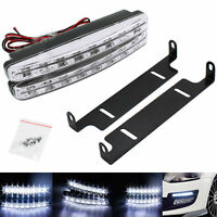 2x 8 LED DRL Daytime Running Lights FOR VW CARAVELLE MULTIVAN T5 T4 TRANSPORTER