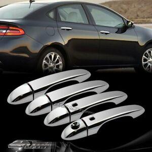 For 2010-2015 Lexus RX350 RX450H Mirror Chrome Door Handle Cover Cap W//Smart Key