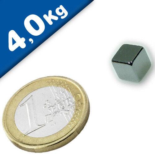hält 4,0 kg 10 x Magnetwürfel Würfelmagnet 8 x 8 x 8mm Neodym N40 Nickel