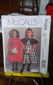Oop-Mccalls-Ruffles-amp-Lace-4999-girls-party-xmas-dress-capelet-sz-2-5-NEW