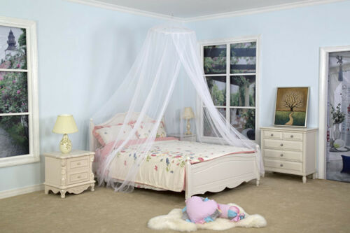 Elegant White Round Mosquito Net Bed Canopy Gauze Princess Bedroom Canapy Cover