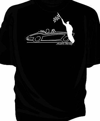 /'Original sketch/' Chequered flag retro t-shirt  classic Panther Kallista