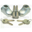 Roller Shutter Bullet Locks Oval and Housings Free Postage 1 Pair With 4 Keys