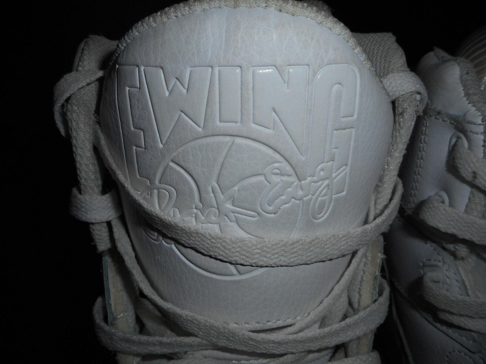 patrick ewing männer weiße gummi einzige schuhe, hohe 33 basketball - schuhe, einzige schuhe der größe 8,5 92518d