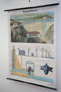 Vieux-Tableau-D-039-Apprentissage-A-Vintage-Deco-Carte-Murale-Carte-a-Rouler
