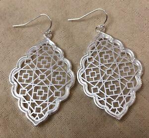 Image Is Loading Silver Filigree Earrings Kendra Chloe Dangle By