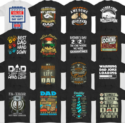 DAD T-SHIRT Gift Mens Present For Him Father/'s Day Printed Top,Tee Daddy