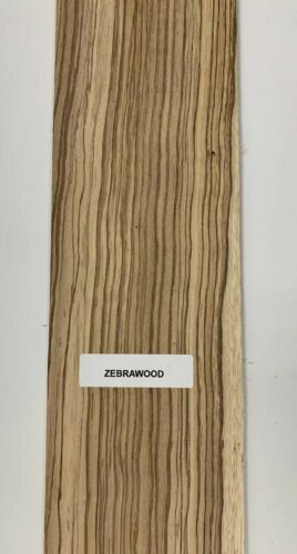 "1//2/"" x 1 1//2/"" x 16/""  Beautiful Zebrawood Thin Stock Lumber Boards Wood Crafts"