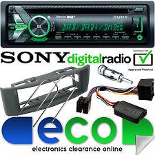 Renault Scenic 00-05 SONY DAB Bluetooth CD Car Stereo & GREY Fascia Steering Kit