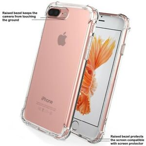 For-iPhone-8-Case-Shock-Proof-crystal-clear-Soft-Silicone-Gel-Bumper-Cover-Slim